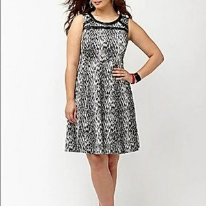 Lane Bryant Leopard Jacquard Dress A Line